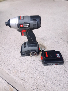 PORTER-CABLE 18-Volt 1/4-in Cordless Variable Speed Impact Drive
