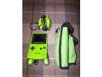 Gameboy Colour with games and chargers