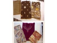 Ladies 2 indian suits material 3 pieces £15 both