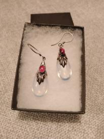 Vintage Silver and Moonstone Earrings *New and unworn*