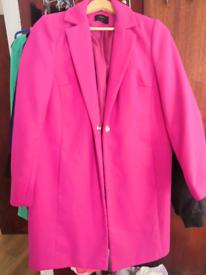 Hot Pink Jacket Coat