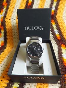 Bulova Stainless Steel Men's Watch - Model 96B149 - Brand New