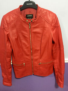 Red Danier Women's Leather Jacket CANADIAN MADE ITALIAN LEATHER