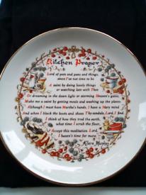 1950s Vintage Kitchen Prayer Plate mint condition! Doorstep viewing!!