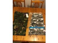 Cammo trousers , new