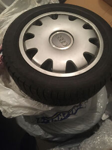 Audi Michelin Pilot 16 in. snow tires and rims