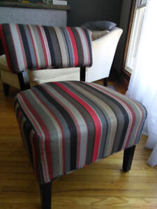 Chair Red grey brown
