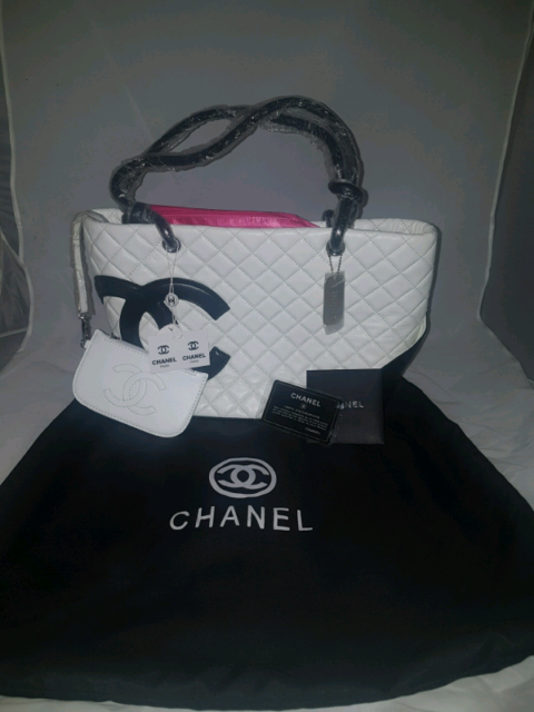a880ccaf0142 CHANEL white cambon quilted large tote bag