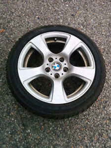 Two 17 inch BMW Rims with Good Winter Tires 225/45/R17
