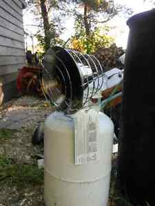 Propane Top tank heater comes with 30 pound tank.not full of pro