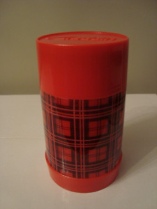 Vintage Aladdin Industries Red Plaid Insulated Thermos