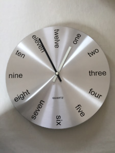 Clock with an original look