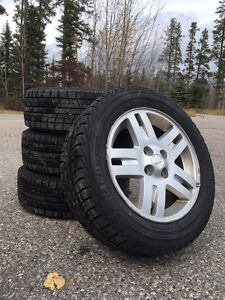 Yokohama iceGUARD iG52c Winter Tires on Rims!