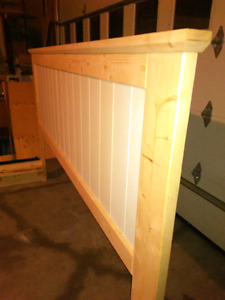 King size bed platform and head board