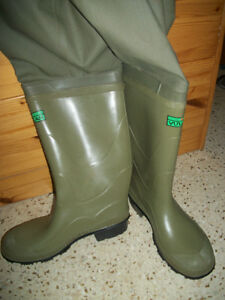 VULCAN HIP RUBBER BOOTS .MADE IN CANADA ..