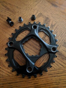 Oval Chainring Absolute Black 30T