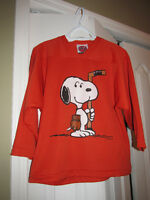 SNOOPY Hockey Jersey Top Youth Medium 10 12
