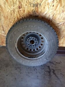 2 sets of studded tires 225/70 R16 and 205/55 R16 on rims