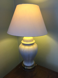 Table lamp - white base & shade
