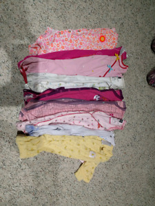 Lot #4 Baby Girl sleepers 3-6 Months