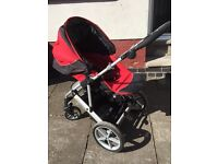 Britax Vigour 4 pushchair, car seat and Isofix base