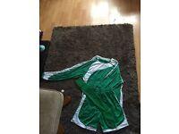 11 Men's Green and White Football Kits