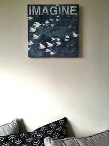 Imagine Bird and Sky Picture Canvas Wall Art NEW