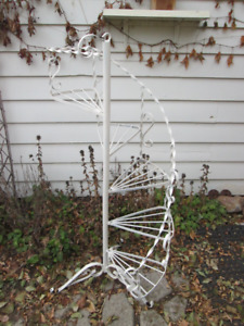 Wrought iron plant stand or yard decor