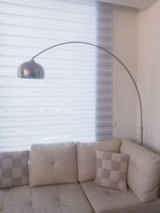 Arc Lamp with Marble Base for Sale