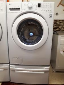 White LG Pedestal for washer or dryer