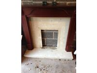 Fireplace and marble surround