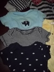 3 MONTH BABY CLOTHES, HOODIE DIAPER TOP OUTFITS 7PCS Peterborough Peterborough Area image 2