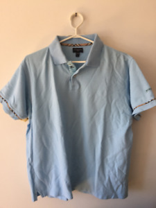 TWO Men's Burberry Golf, Polo Shirt, Short Sleeve, Excellent