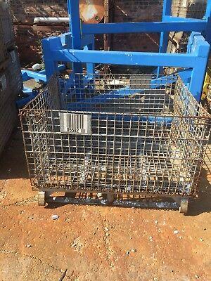 Wire Baskets - Palletainer Metal Pallet Wire Baskets 48x40x22