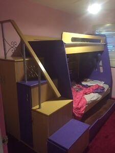 Custom made triple bunk bed
