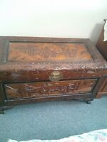 Beautiful Carved Linen Box