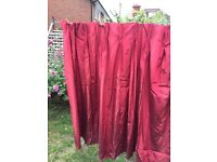 """Gorgeous Silk lined curtains pair 59"""" width X 55"""" drop"""