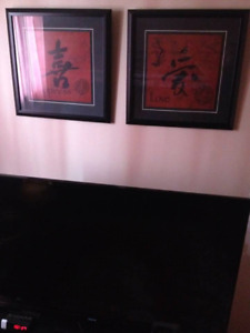 Two large Asian prints decor (both $10) retail $80