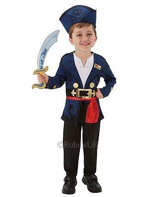 Child Disney Jake And The Never Land Pirates Fancy Dress Costume & Cutlass Kids