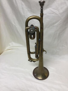 bugle with a single vertical piston