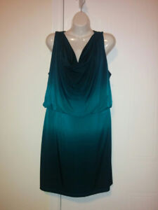 Black / Teal Ombre Cocktail Dress from 'Ricki's' - Size 10P