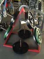 Olympic plates and stand