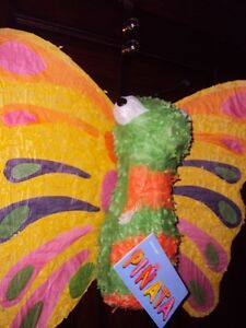 New w Tags Butterfly piñata to be filled w. loot and candies