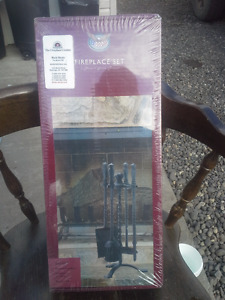 5 PIECE FIREPLACE SET BRAND NEW