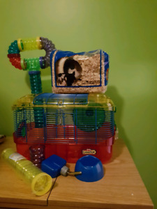Critter trail hamster cage and accessories