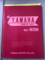 1974 Yamaha RD200A Parts List