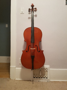 Full Sized Yamaha Cello with Bow & Soft Carrying Case