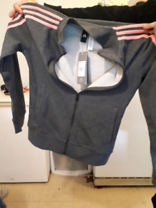 Addidas zip up sweater -brand new, tags still on