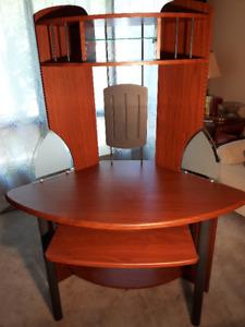 Desk - Corner fit with storage shelving