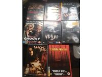 13 horror DVDs